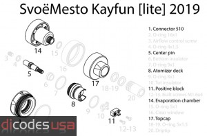 Kayfun [Lite] 2019 Replacement Parts