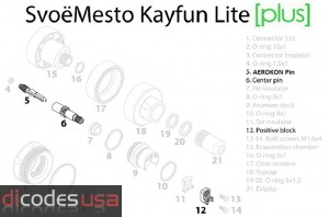 Kayfun Lite [PLUS] - Replacement Parts