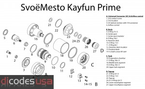 Kayfun Prime Replacement Parts